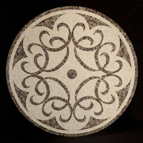 "48"" Marble Mosaic Medallion"